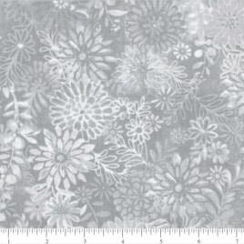 108″ Gray Flowers Bursts