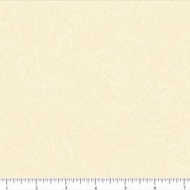 108″ White/Cream Paisley