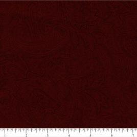 108″ Dark Red Paisley