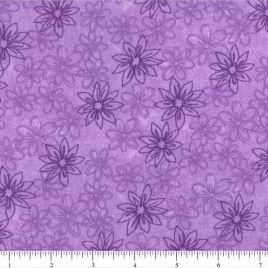 108″ Purple Daisies