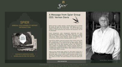 Spier in Search of Sustainability report