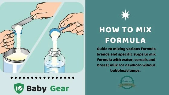 How to Mix Formula - 10BabyGear Food Guide