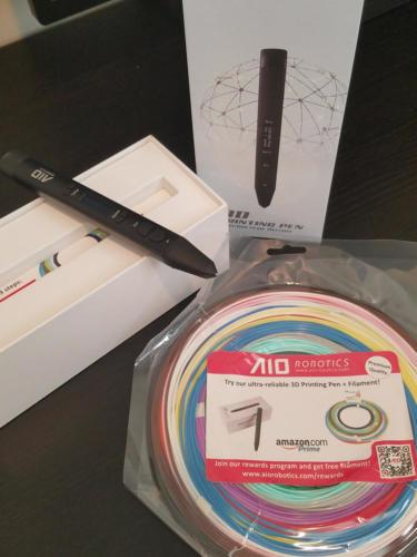 AIO Robotics 3D Printing Pen box and filament