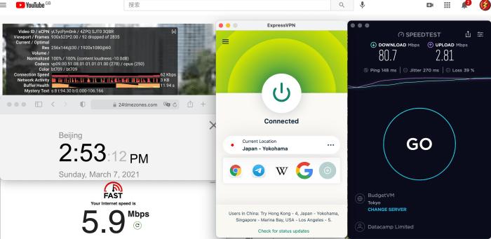 ExpressVPN Macbook Automatic Japan - Yokohama中国VPN翻墙 科学上网 10BEASTS Baary 测试 2021-03-07 at 14.53.12