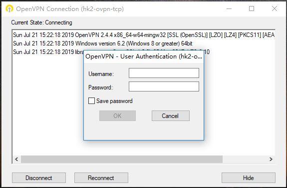 Ivacy window openvpn-翻墙连接操作-输入账号