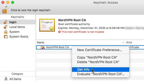 NordVPN Mac IKEv2 证书安装-3