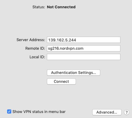 NordVPN Mac IKEv2 连接配置方法-5