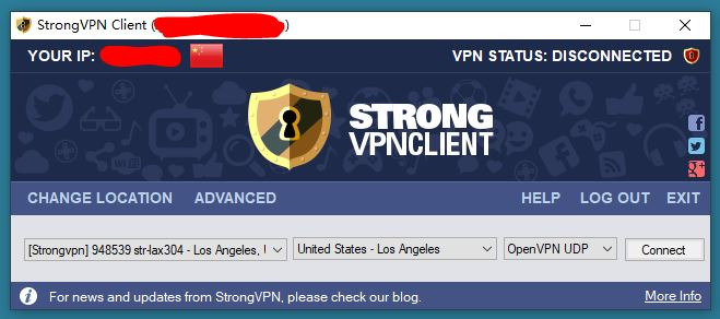 StrongVPN China Windows App