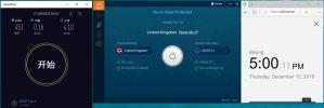 Windows IvacyVPN UK 中国VPN翻墙 科学上网 SpeedTest 测速 - 20191212