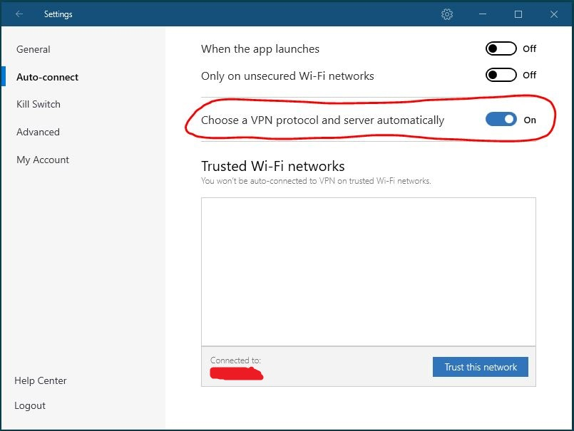 Windows NordVPN 连接协议设置 步骤3