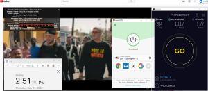 Windows10 ExpressVPN Auto协议 USA - Los Angeles - 5 中国VPN 翻墙 科学上网 测速-20200723