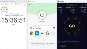 Windows10 ExpressVPN IKEv2 UK - Wembley 中国VPN 翻墙 科学上网 翻墙速度测试 SpeedTest - 20200820