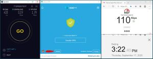 Windows10 HidemeVPN Vietnam 服务器 中国VPN 翻墙 科学上网 翻墙速度测试 - 20200917