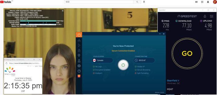 Windows10 IvacyVPN 6.0.0.0版本 IKEv2协议 Canada 服务器 中国VPN 翻墙 科学上网 Barry测试 10BEASTS - 20210708