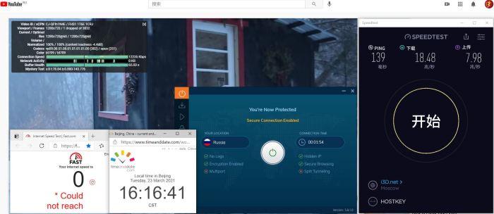 Windows10 IvacyVPN IKEv2 Russia 服务器 中国VPN 翻墙 科学上网 10BEASTS Barry测试 - 20210323