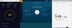 Windows10 IvacyVPN Nehterlands 中国VPN 翻墙 科学上网 SpeedTest测速-20200410
