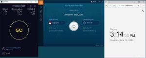 Windows10 IvacyVPN Singapore 中国VPN 翻墙 科学上网 测速-20200616
