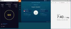 Windows10 IvacyVPN Singapore 中国VPN 翻墙 科学上网 测速-20200622
