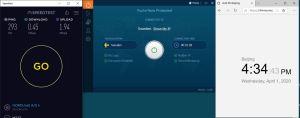 Windows10 IvacyVPN Sweden 中国VPN翻墙 科学上网 SpeedTest测速-20200401