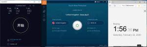Windows10 IvacyVPN UK 中国VPN翻墙 科学上网 SpeedTest测试 - 20200222