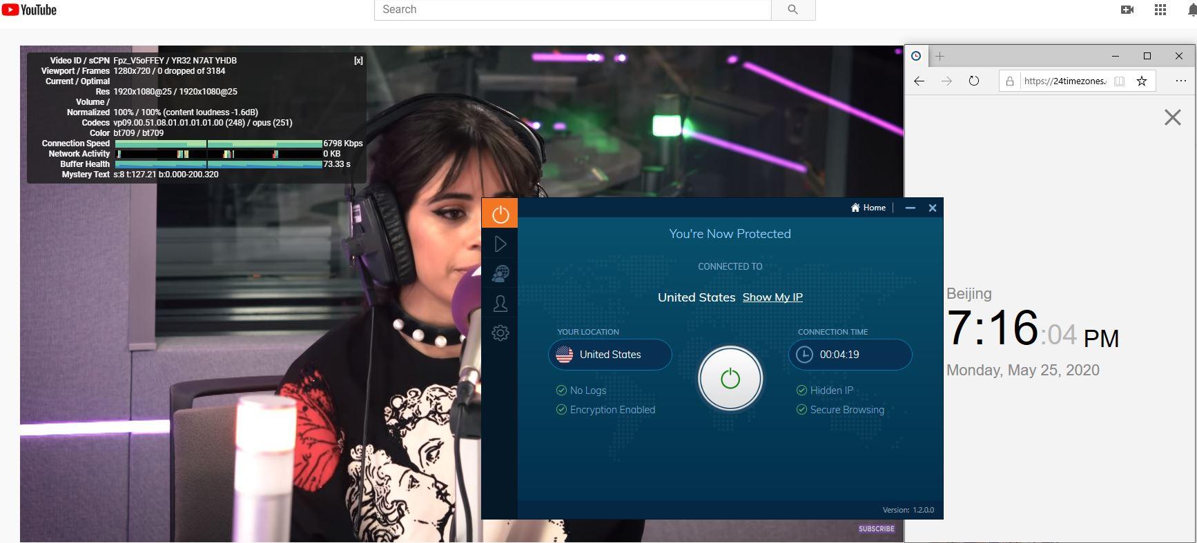 Windows10 IvacyVPN USA 中国VPN 翻墙 科学上网 测速-20200525