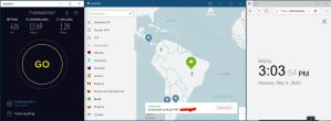 Windows10 NordVPN 混淆协议关闭 Brazil #47 中国VPN 翻墙 科学上网 SpeedTest测速-20200504