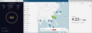 Windows10 NordVPN HK #73 中国VPN 翻墙 科学上网 SpeedTest测速-20200413
