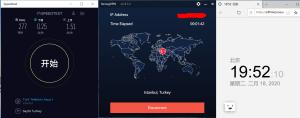 Windows10 StrongVPN Istanbul Turkey 中国VPN翻墙 科学上网 YouTube测速 - 20200218
