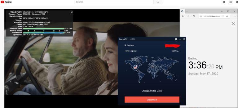 Windows10 StrongVPN SSTP Chikago - USA 中国VPN 翻墙 科学上网 youtube测速-20200517
