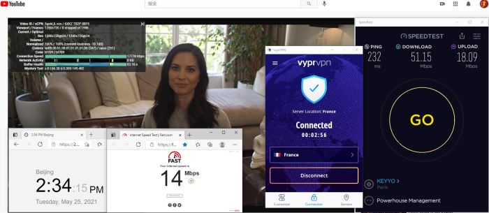 Windows10 VypeVPN WireGuard协议 France 服务器 中国VPN 翻墙 科学上网 10BEASTS Barry测试 - 20210525