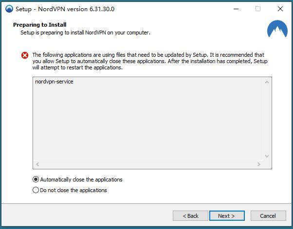 NordVPN限制国家专用版APP,安装提示错误,关闭NordVPN-Service .JPG