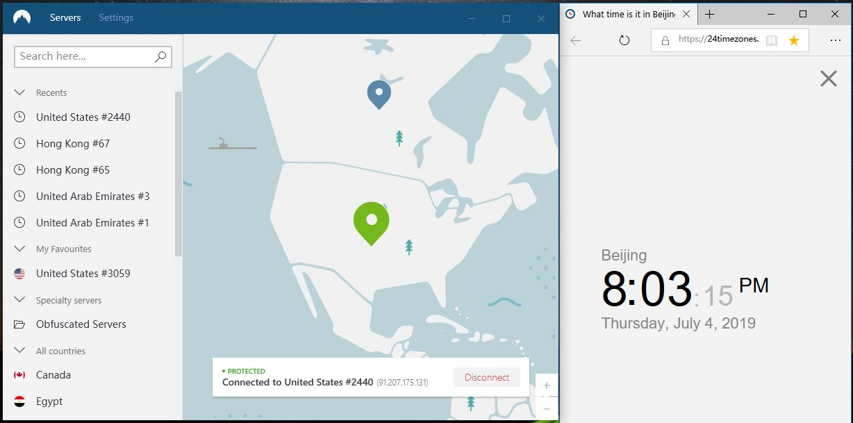 windows nordvpn 美国 2440节点 中国VPN 翻墙 科学上网 测试-20190704