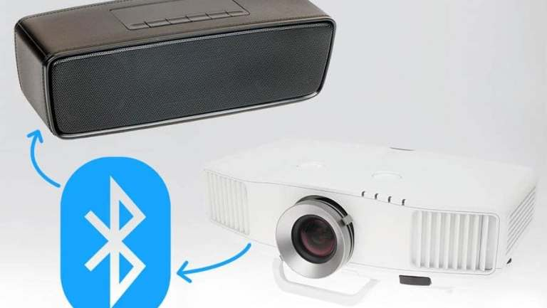 Connect projectors to speakers