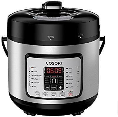 New one is COSORI Electric Pressure Cooker 6 Qt 8-in-1 Instant Stainless-Steel Pot and 16 Program Slow Cooker