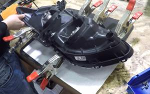 Reseal Headlights - Clamping the Headlight