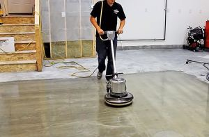 How to clean a concrete garage floor