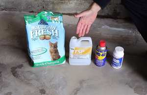 How to clean oil off a concrete garage floor