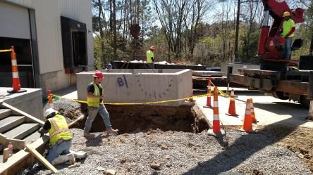 Bottom portion of 2,000 gallon oil-sand separator tank