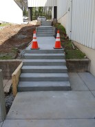 Steps and sidewalk up to Upper Level