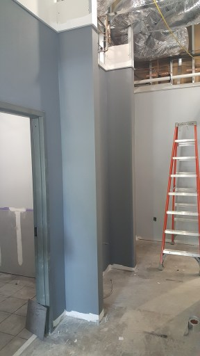 Walls inside office area get painted