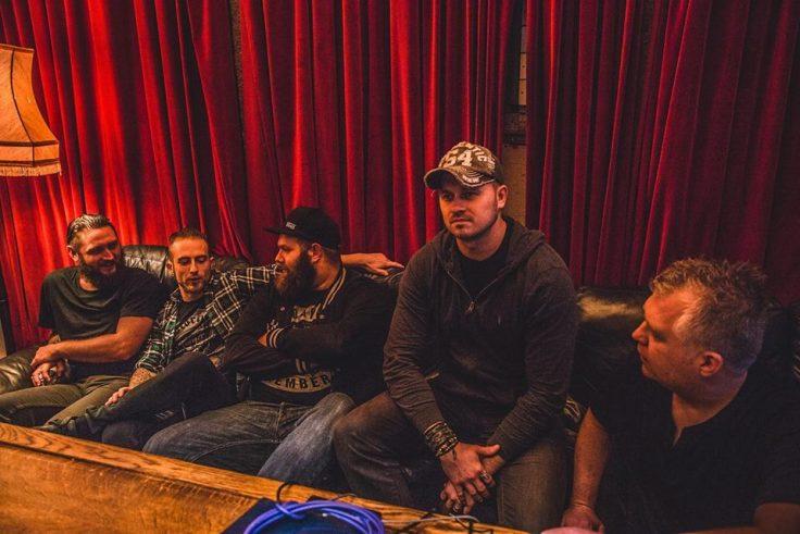 Kieran Best - Rhytm Guitar far left
