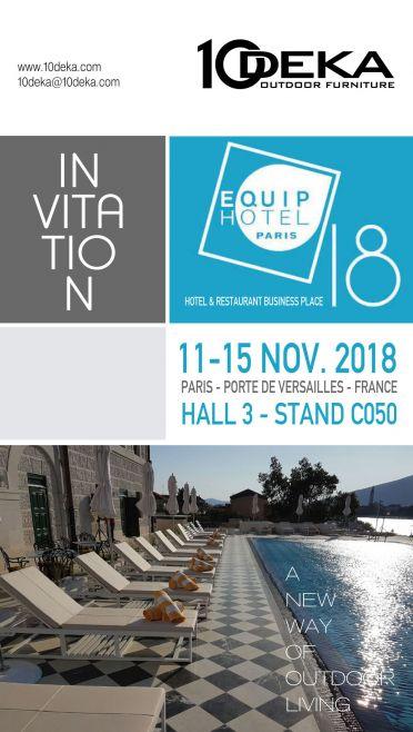 EquipHotel Paris 2018