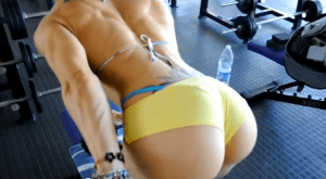 triceps workout video, hot babe working out.