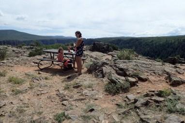 Pic-nic au Black Canyon