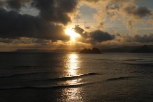 Coucher de soleil sur Mawi