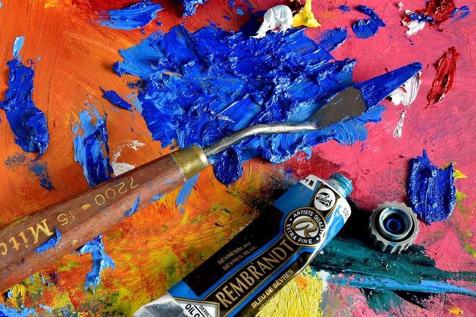 yağlı boya ve palet