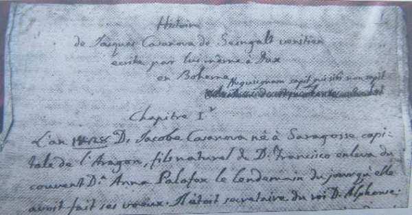 Giacomo Casanova Manuskript