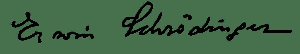 Erwin Schrödinger imzası