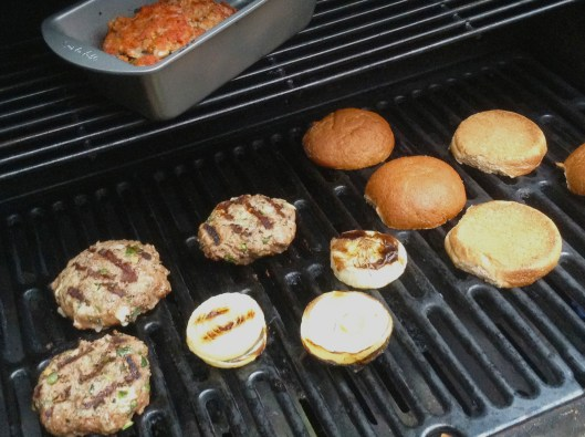 PS2burger on grill