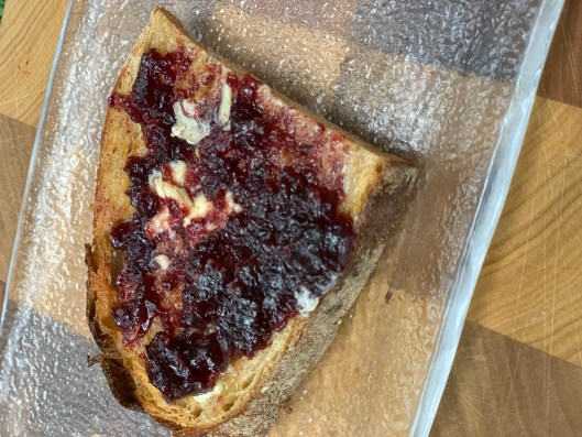 grape jelly toast